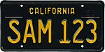 1963 California license plate SAM-123.jpg