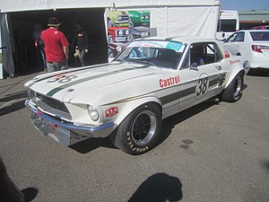 1971 Australian Touring Car Championship - The 1967 Ford Mustang in which Ian Geoghegan placed third. The car is pictured in 2013