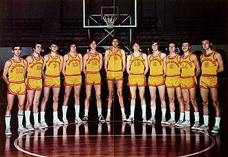 Pallacanestro Milano 1958 - 1971–72 Mobilquattro Milano in its original yellow-reds colors