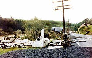 Waikino - 1981 Waikino flood aftermath