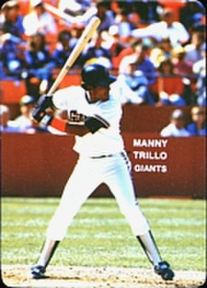 Manny Trillo - Trillo batting for the Giants in 1985