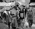 1989 Eglinton Tournament - VIP Group and umbrellas.jpg