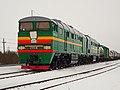 2ТЭ116-428, Россия, Псковская область, станция Пыталово (Trainpix 49972).jpg