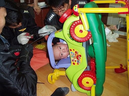 2005년 서울소방 유아용 놀이기구 안전 사고 현장