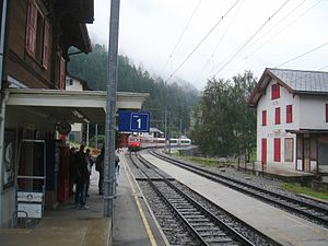 Randa, Switzerland - Randa train station