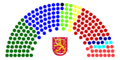 2007 Parliament of Finland Structure.png