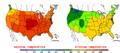 2012-07-24 Color Max-min Temperature Map NOAA.png