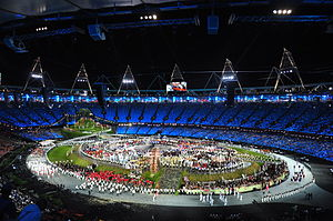 2012 Summer Olympics Parade of Nations - The Nations entering the Olympic Stadium