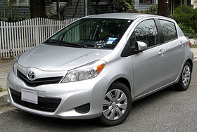 2012 Toyota Yaris LE five-door -- 03-16-2012.JPG