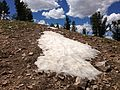 2013-07-12 14 22 21 Patch of snow just north of unnamed peak 9828 in the Copper Mountains.jpg