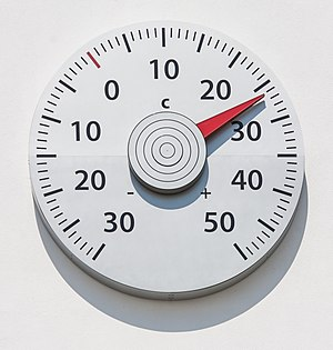 United Nations Framework Convention on Climate Change - artwork: outdoor thermometer, symbolizing measurement of global temperature