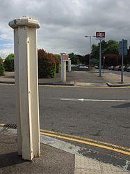 2015 at Chippenham station - Barlow rail gateposts.JPG