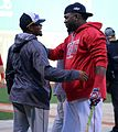 2016-10-10 Rajai Davis and David Ortiz before game 04.jpg