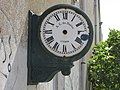 2017-09-28 Clock on the side of disused train depot, Lagos railway station.JPG