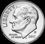 2017-D Roosevelt dime obverse transparent.png