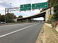 2018-11-01 13 26 06 View west along U.S. Route 50 (Lee Jackson Memorial Highway) at the exit for Virginia State Route 608 NORTH (West Ox Road) in Fair Oaks, Fairfax County, Virginia.jpg