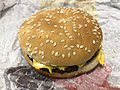 2019-02-28 21 43 04 A Burger King cheeseburger in Oak Hill, Fairfax County, Virginia.jpg