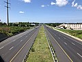 2019-07-24 11 01 01 View west along Interstate 70 and U.S. Route 40 (Baltimore National Pike) from the overpass for Maryland State Route 85 (Buckeystown Pike) in Ballenger Creek, Frederick County, Maryland.jpg