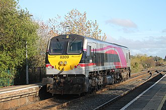 IE 201 Class - 8209 at Moira in the current Enterprise livery