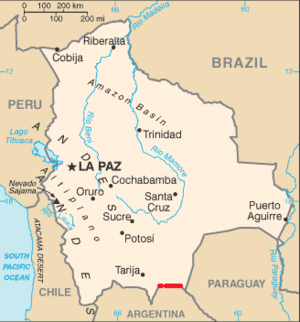 22nd parallel south - The 22nd parallel south forms part of Bolivia's border with Argentina.