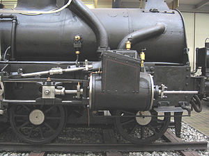 Piston rod - Czech class 252.0 locomotive, with a tail rod