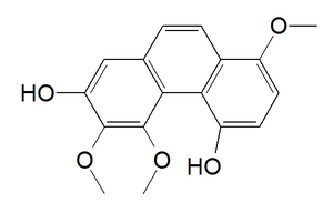 3,4,8-Trimethoxyphenanthrene-2,5-diol - Image: 3,4,8 trimethoxyphenanthre ne 2,5 diol