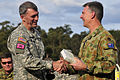 40th Infantry Division commander and Australian CFLCC commander exchange gifts 110725-A-9533S-018.jpg