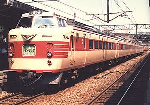 781 series - JNR 781 series 6-car set on a Lilac service, 1986