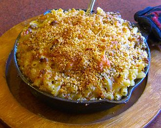 Gratin - A macaroni, cheese and meat gratin