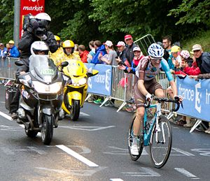 Romain Bardet - Bardet on his way to winning Stage 19 of the 2016 Tour de France.