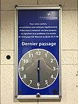 Aéroport de Lyon (2018) - panneau dernière heure de nettoyage des toilettes.JPG