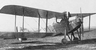 Armstrong Whitworth F.K.8 - Early production F.K.8 showing original undercarriage, cowling and radiators