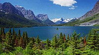 A105, Glacier National Park, Montana, USA, Saint Mary Lake, 2004.jpg