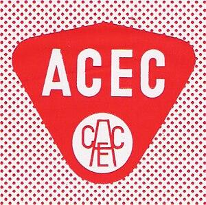 Ateliers de Constructions Electriques de Charleroi - Image: ACEC Logo venant des sacs plastique du Service Technique