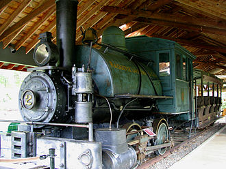 Marion River - This engine was used on the Marion River Carry Railroad.  Efforts to save the engine resulted in the Adirondack Museum