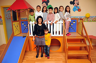 Una classe di bambini di Alanya in Turchia.