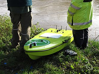 Environment Agency - A remote controlled ARC-Boat that is used to collect river and estuarine data, assisting in flood forecasting