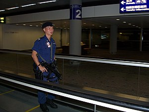An example of Airport security.