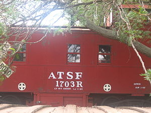 Carson County Square House Museum - Atchison, Topeka and Santa Fe Railroad, since Burlington Northern Santa Fe