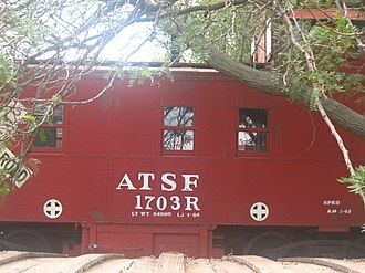 Carson County Square House Museum - Atchison, Topeka and Santa Fe Railroad, since Burlington Northern Santa Fe