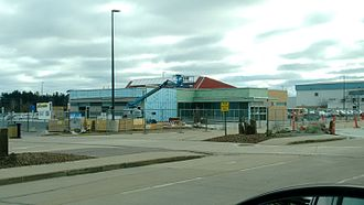 Appleton International Airport - Car rental center under construction