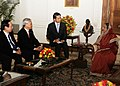 A Parliamentary delegation from Vietnam led by the Chairman of the National Assembly of Vietnam, Mr. Nguyen Phu Trong called on the President, Smt. Pratibha Devisingh Patil, in New Delhi on February 25, 2010.jpg