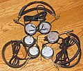 A Trio Of 1920s-Era Radio Headphones, C. Brandes Superior Matched Tone (T), Western Electric (L), Brandes Navy Type Matched Tone (R), All Made In USA (36399282866).jpg