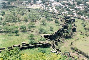 Delhi Sultanate - Image: A View from Daulatabad Fort