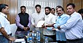 A delegation from Talcher, Odisha along with the Minister of State for Petroleum and Natural Gas (Independent Charge), Shri Dharmendra Pradhan meeting the Minister of State (Independent Charge) for Power.jpg