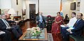 A delegation led by the US Senator Christopher Coons meeting the Minister of State for Commerce & Industry (Independent Charge), Smt. Nirmala Sitharaman, in New Delhi on April 18, 2017.jpg