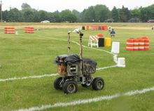 A robot in the IGVC competition