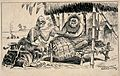 A sick tribal chief consulting his witch-doctor and admits t Wellcome V0011642.jpg