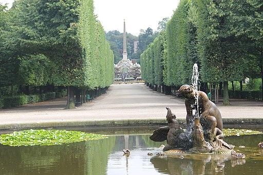 A view of the Schloss Schönbrunn Wien