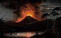 A volcano (Mount Etna?) erupting at night. Coloured aquatint Wellcome V0025183.jpg